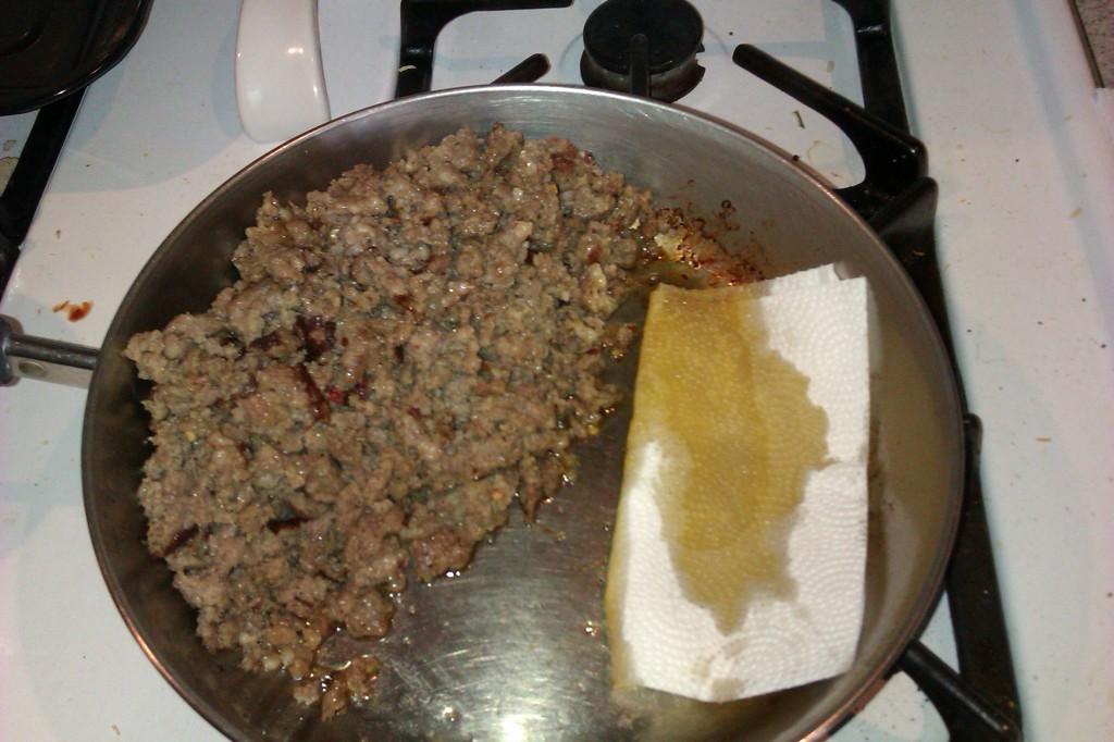 draining sausage
