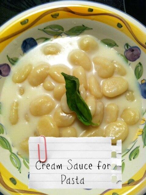 cream sauce for pasta