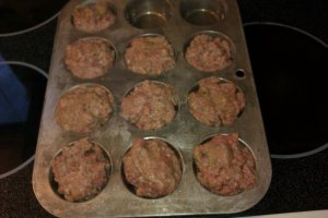 meatloaf cupcakes step 2