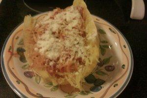 cheesy spaghetti squash