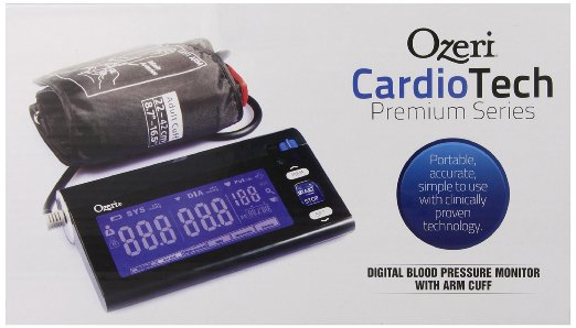 ozeri cardiotech premium series digital blood pressure monitor review