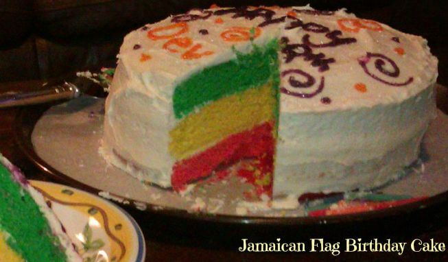 jamaican flag birthday cake