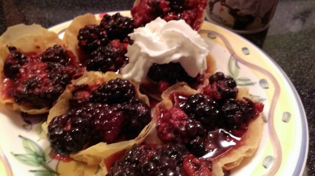 easy berry phyllo tart recipe