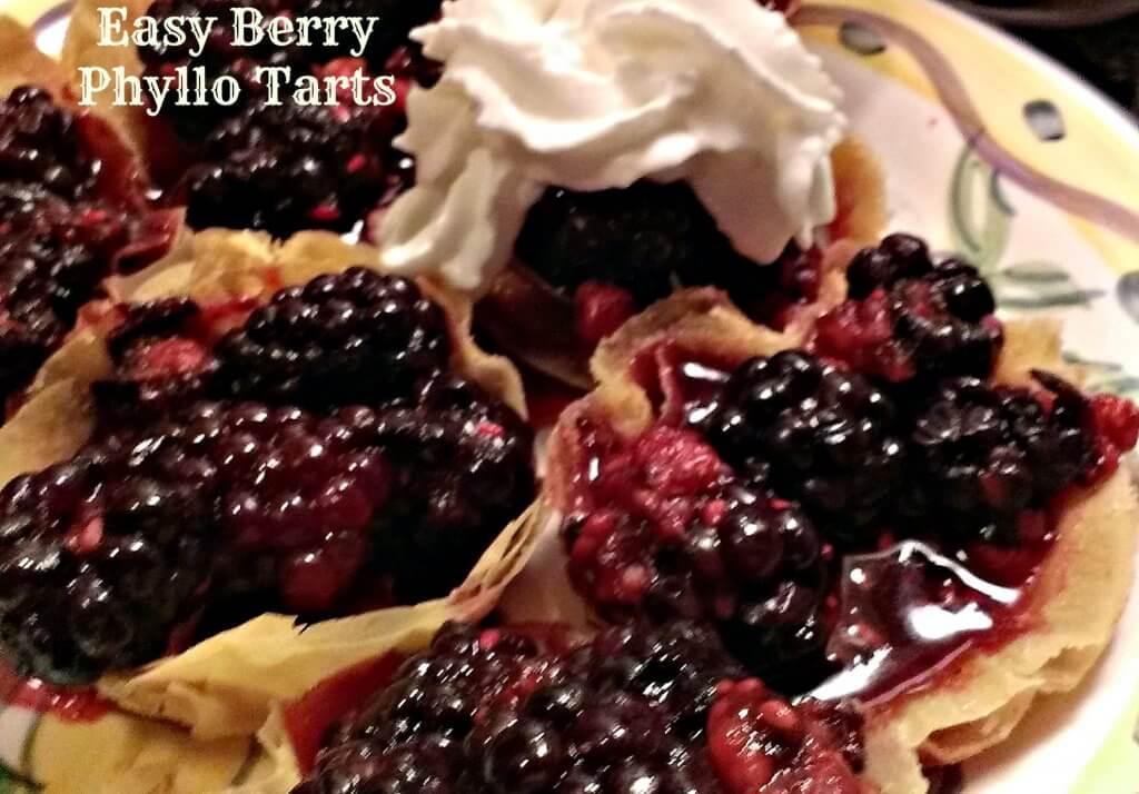 easy berry phyllo tarts