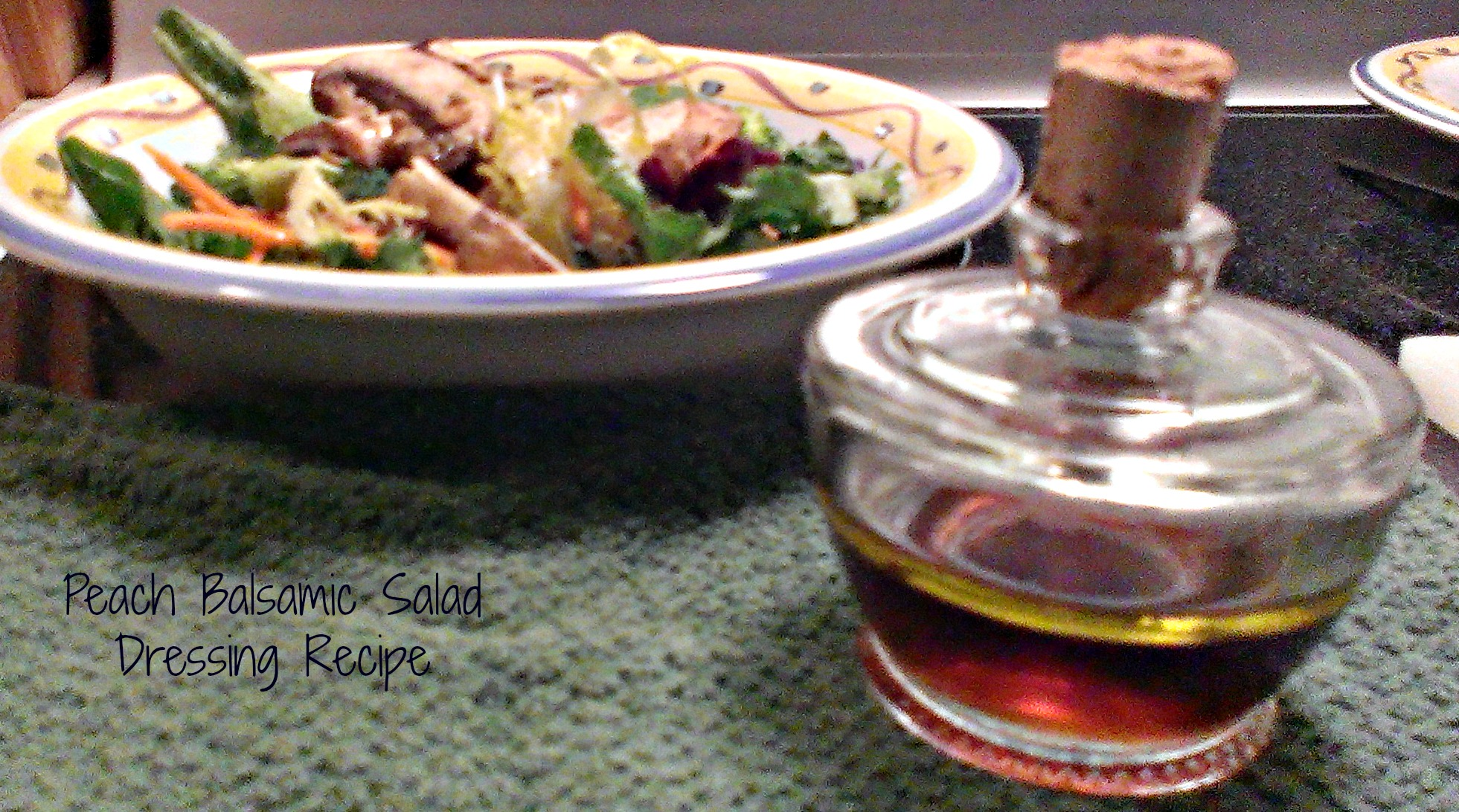 peach balsamic salad dressing recipe