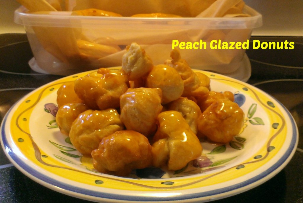 peach glazed donuts recipe