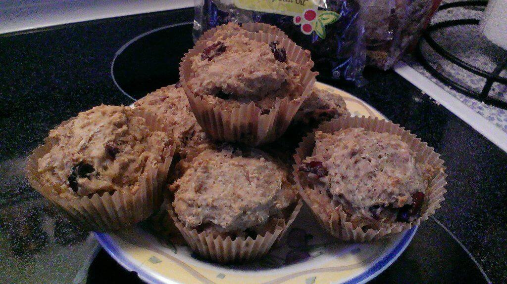 cranberry quinoa muffins