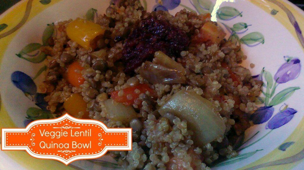 veggie lentil quinoa bowl