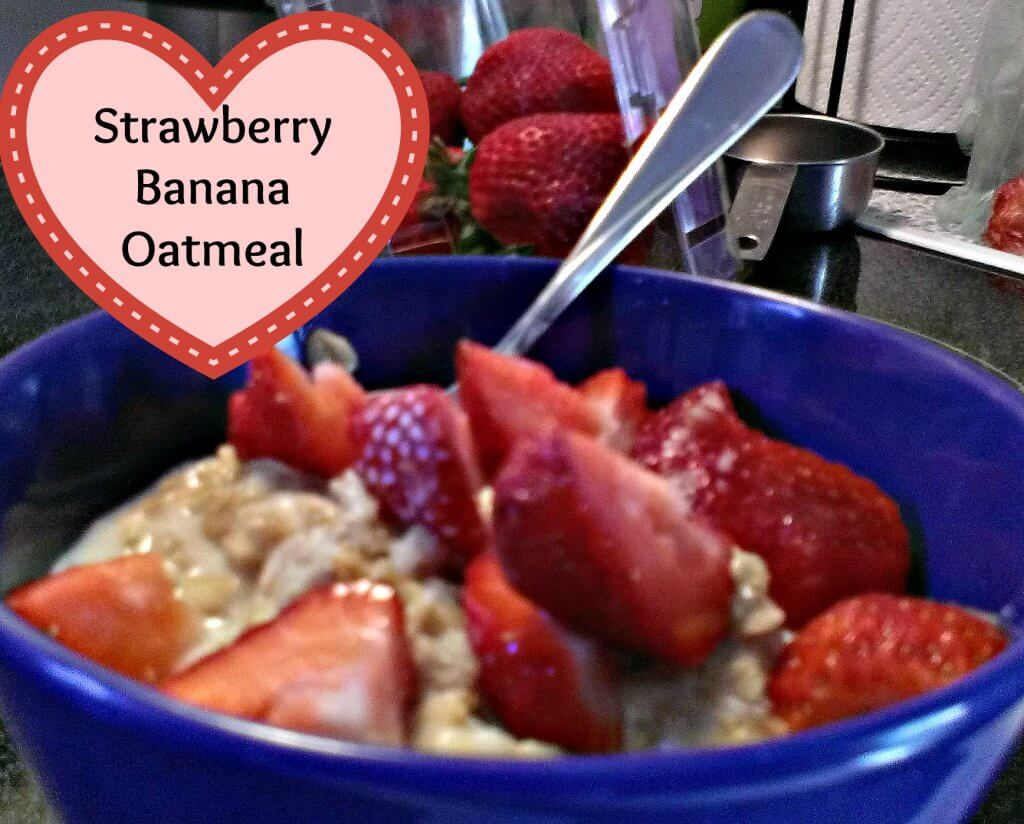 strawberry banana oatmeal