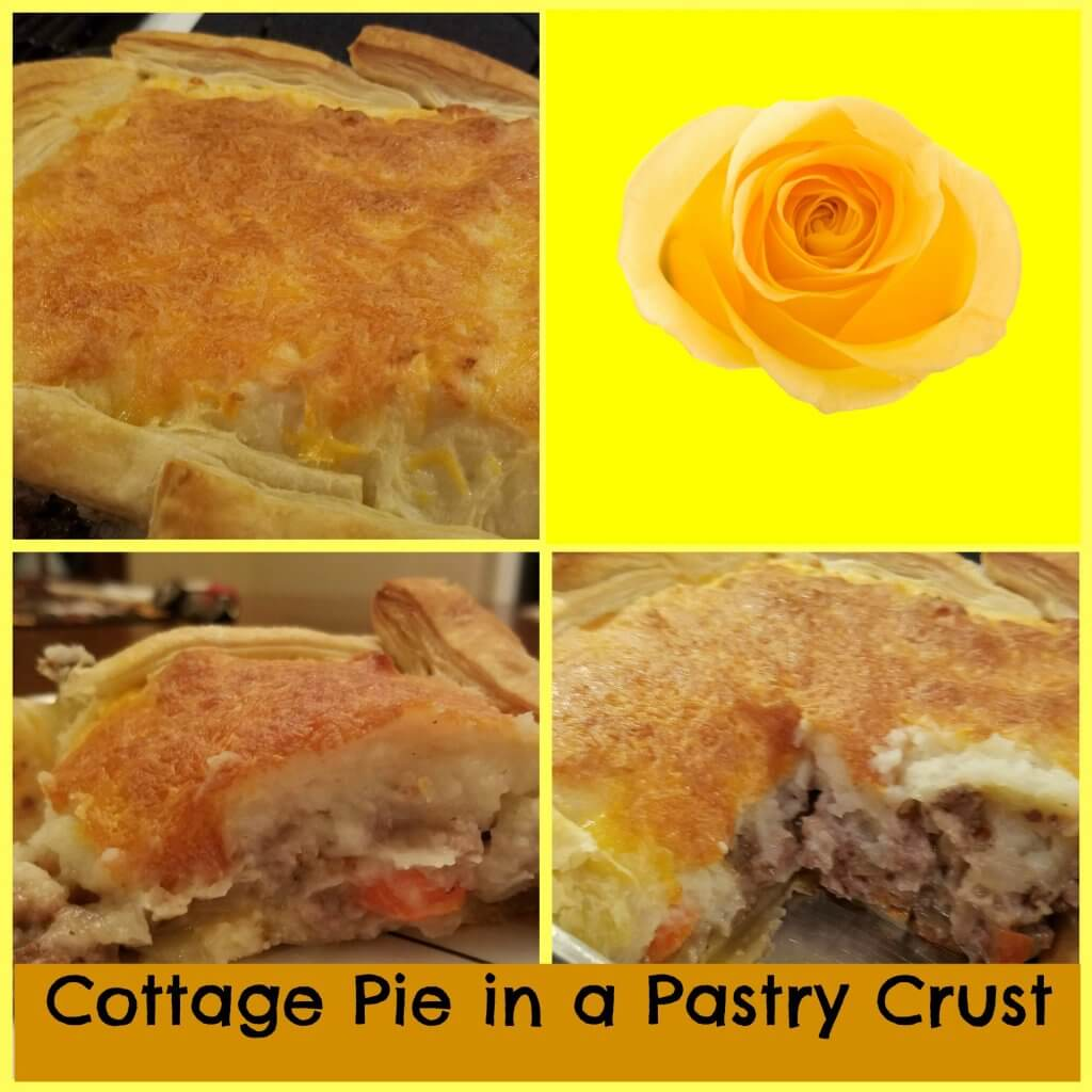cottage pie in pastry crust