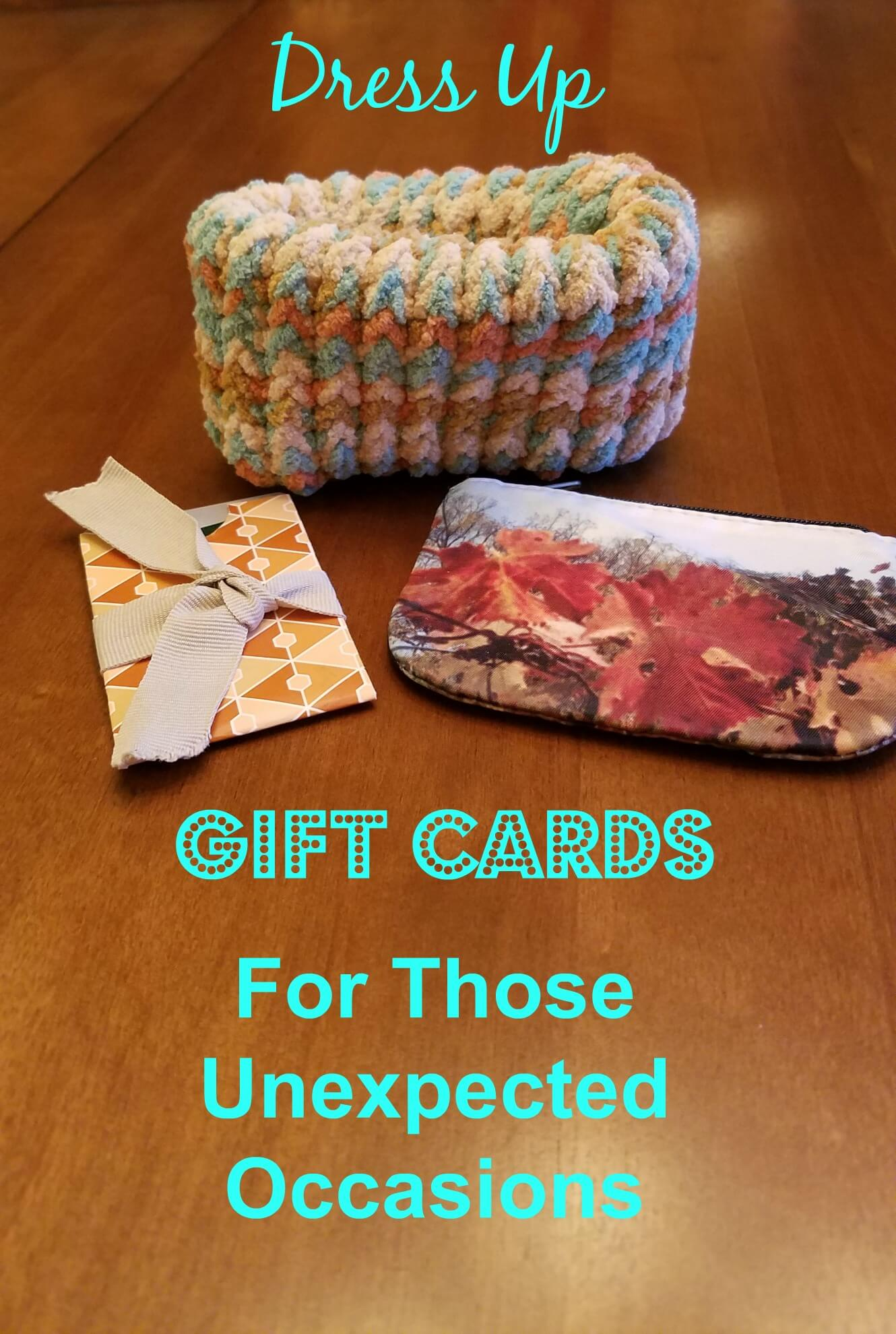 dress up gift cards