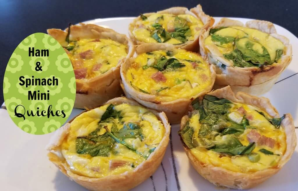 ham spinach mini quiche